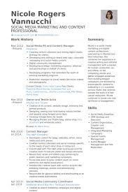 Social Media Pr And Content Manager Resume samples