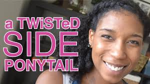 Natural Hairstyles Ponytails 2 Minute Twisted Side Ponytail Short Long Natural Hair Youtube