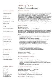 Medical Assistant Resume Templates Free Medical Assistant Resume