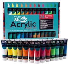 Mont Marte Acrylic Paint Set 24 Colours 36ml Perfect For