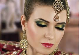 gold and green y eye bridal makeup tutorial asian indian stani arabic contemporary look in stan
