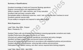 Bank Teller Responsibilities Resume Gse Bookbinder Co Job