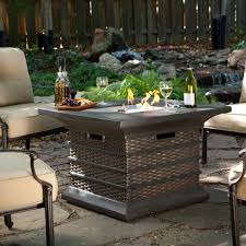 Patio Ideas Outdoor Dining Table Fire Pit With Square Metal Table