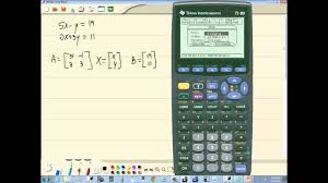 technology in college algebra linear systems of equations inverse matrix method ti 89 you