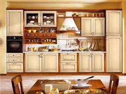 Open Kitchen Cupboard Wonderful Cream Kitchen Cabinets With Gas Stove Side Rag Hook