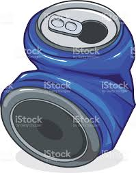 crushed can clipart. crushed tin can royalty-free stock vector art clipart n