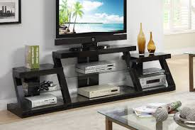 tv stand with side shelves in espresso finish
