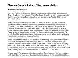 general letter of recommendation example generic reference letter experience illustration sample of