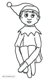 Printable Elf Coloring Pages Trustbanksurinamecom
