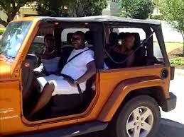 driving the jeep wrangler sahara with no doors