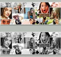 creative photo collage for facebook timeline template psd