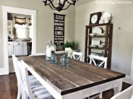 White Rustic Table Home Design - Rustic modern dining room chairs