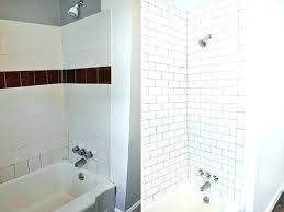 bathroom surround tiled tub subway tile ideas shower mosaic bathtub marble