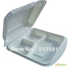Trois compartiments alimentaire durable emballage Sandwich contenant ...
