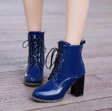 ankle boots patent leather high heels women winter boots fashion pointed toe women shoe chunky heel lace up boots black size 43 ankle boots for women mens
