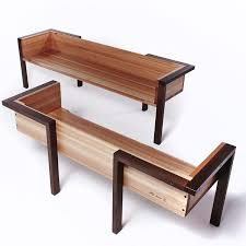 metal and wood furniture. Change The Wooden Legs To Beeswaxed Bare Steel Box Section (Diy Outdoor Bench) Metal And Wood Furniture N