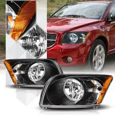 Dodge Caliber Side Light Bulb Replacement For 07 12 Dodge Caliber Black Housing Clear Side Headlight