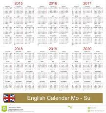 Calendar 2015 2020 Stock Vector Illustration Of Agenda