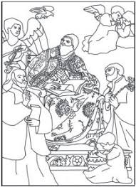 Free Coloring Page Saint Gregory The Great With Saint Ignatius