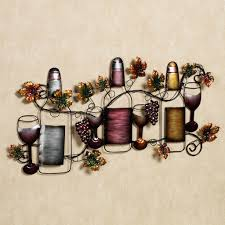 Metal Wall Decor For Kitchen Decoration Glamour Wine Tasting Metal Wall Sculpture For Modern