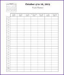 Printable Hourly Weekly Schedule Excel Weekly Hourly Schedule Template 24 Hour Weekly Calendar