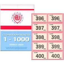 Raffles Tickets Raffle Ticket Book 1 1000 Assorted Colours Amazon Co Uk