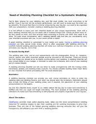 Wedding Detail Checklist Need Of Wedding Planning Checklist For A Systematic Wedding