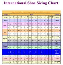 International Footwear Size Chart International Shoe Size Shoes Online
