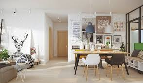 Scandinavian living dining room set Scandinavian decoration