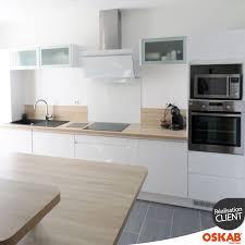 Cuisine Blanche Sans Poignée Ipoma Blanc Brillant Kitchen Ideas