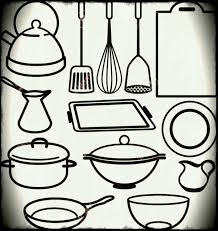 kitchen utensils drawing. Pin Drawn Kitchen Cooking Utensil Pencil And In Color Utensils Drawing