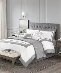 white stripe eight piece comforter set