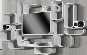 #3:Modern white floating shelf