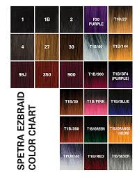 350 Hair Color Chart