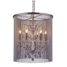 elegant lighting brooklyn 6 light mocha brown chandelier with clear crystal