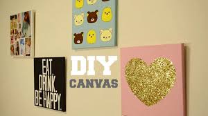 Home Interior:Stunning Diy Wall Art Design Ideas With Gold Colored On White  Square Canvas
