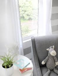 soft whisper linen curtain panels with pom pom trim