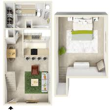 Bedroom Floor Plans Crestwood Apartment Homes - Loft apartment floor plans