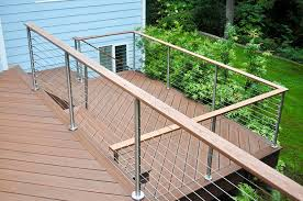 cable systems are also easy to install and work well in a number of locations including deck spaces garden areas poolsides and staircases