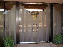 modern glass entry door