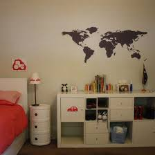 world map wall decals or