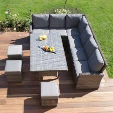 rattan outdoor corner sofa dining set brokeasshome com