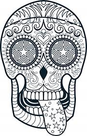 Small Picture Sugar Skull Coloring Page 3 Sugar skulls Sugaring and Free