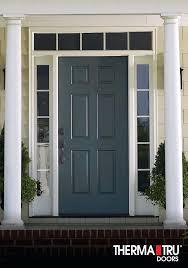 therma tru fiberglass entry doors smooth star fiberglass door painted gale force smooth