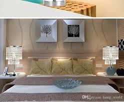 bedroom night table lamps chrome round crystal chandelier bedroom nightstand table lamp led night light bedside
