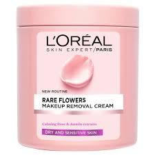 l oréal paris skin cleansing rare flowers makeup removal cream dry sensitive skin 200 ml