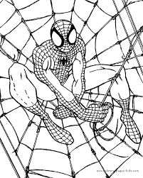 Small Picture printable spiderman coloring page for kids Free Coloring Book