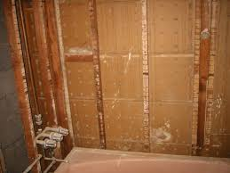 old bathroom walls were removed to the existing studs
