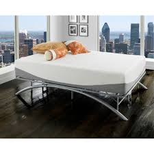 Arch Platform Bed King Size Frame Brushed Silver Sturdy Bedroom ...