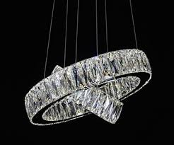 led crystal chandelier lights modern lighting two rings